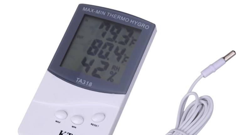 termómetros higrometro