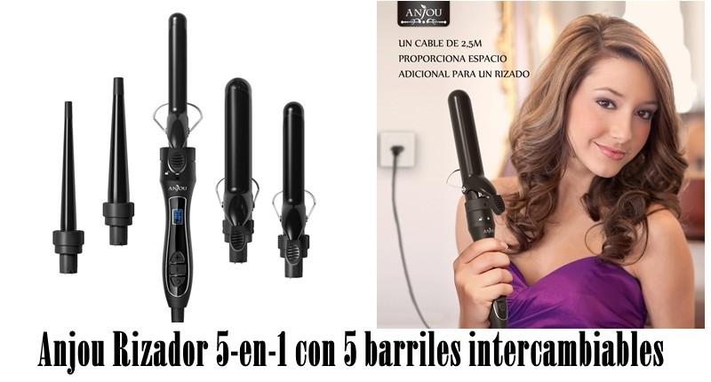 Anjou Rizador 5-en-1 con 5 barriles intercambiables