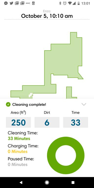 informe de limpieza en iHome