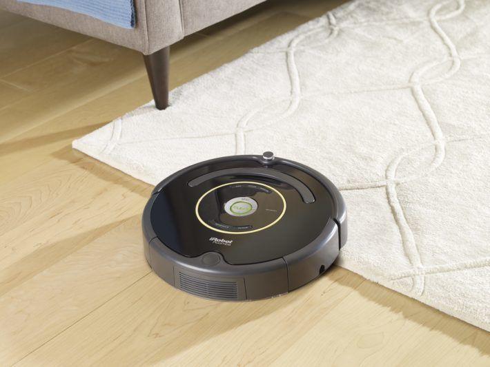 transición del roomba en alfombras